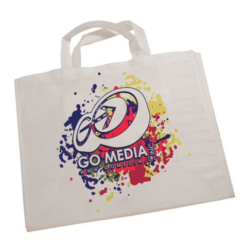 "Picture of White Canvas 7"" Gusset Tote Bag with Your Own Design"