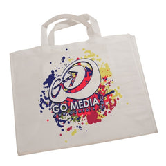 "White Canvas 7"" Gusset Tote Bag with Your Own Design"