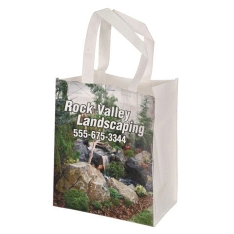 "Picture of White Canvas 4"" Gusset Gift Bag for Your Picture"