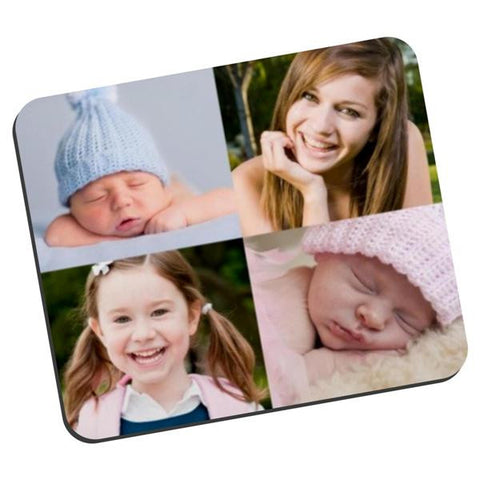 Picture of Four Photos Collage Fabric Mouse Pad