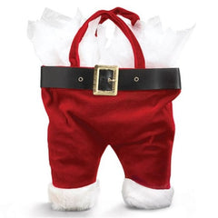 Santa Pants Wine Bottle Tote Bags - 6 Pack