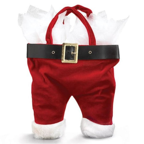Picture of Santa Pants Wine Bottle Tote Bag
