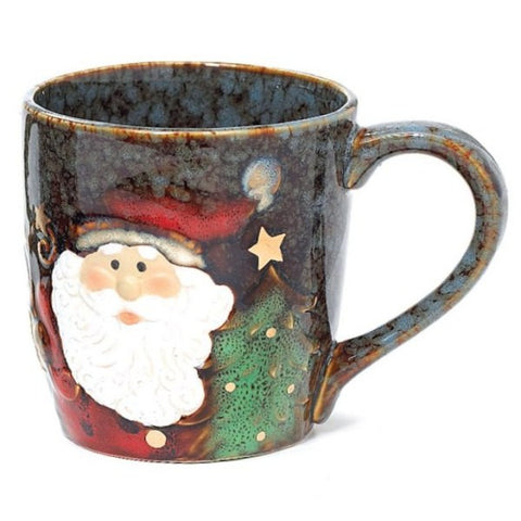 Picture of Santa Yuletide Christmas 18 oz. Porcelain Coffee Mugs - 4 Pack