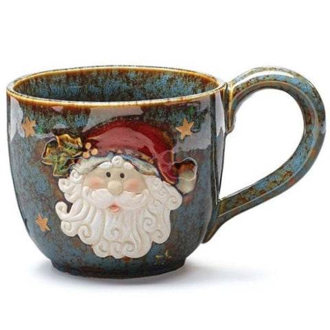 Picture of Santa Yuletide Christmas 30 oz. Porcelain Soup Mug