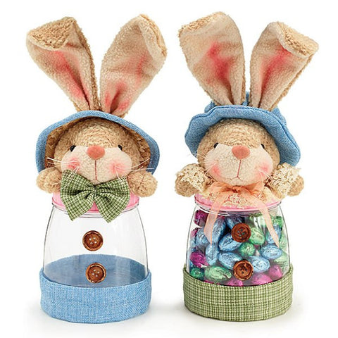 Picture of Set of 2 Easter Bunny Candy Jars