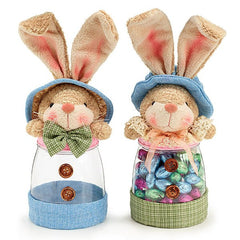 Set of 2 Easter Bunny Candy Jars