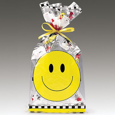 Picture of Smiley Face Cello Bags - 25 pack