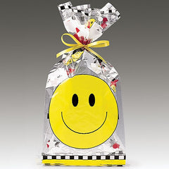 Smiley Face Cello Bags - 25 pack