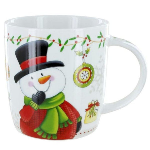 Picture of 12 oz. Snowman Christmas Mugs - 6 Pack