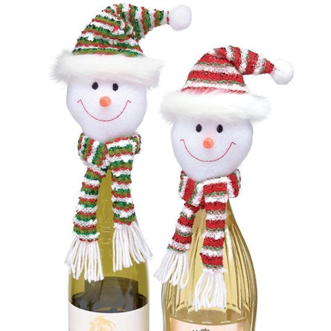 Picture of Snowman Head Bottle Toppers - 2 pc Set