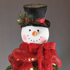 Snowman Head Christmas Tree Topper