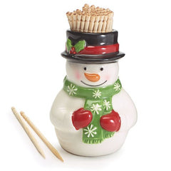 Snowman Shape with Toothpicks Inside - 8 Pack