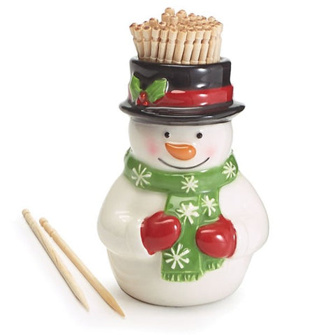 Picture of Snowman Shape with Toothpicks Inside