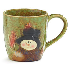 Snowman Holiday Winter 18 oz. Porcelain Coffee Mug