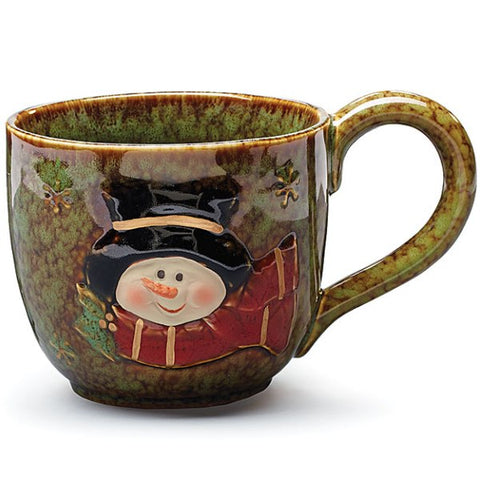 Picture of Snowman Holiday Winter 30 oz. Porcelain Soup Mug
