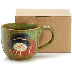 Snowman Holiday Winter 30 oz. Porcelain Soup Mug