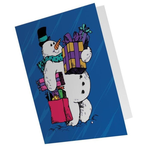 Picture of Snowman Photo Mount Folders - 12 Pack