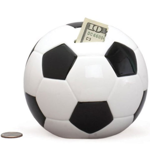 Picture of Soccer Ball Ceramic Banks - 3 Pack