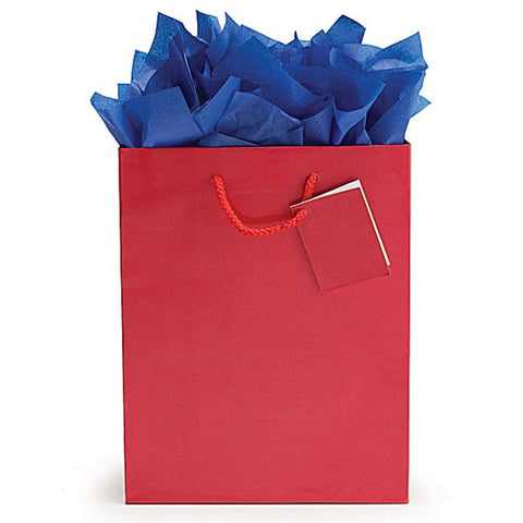 Picture of Solid Red Gift Tote Bags - 12 Pack