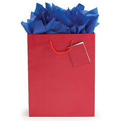 Solid Red Gift Tote Bags - 12 Pack