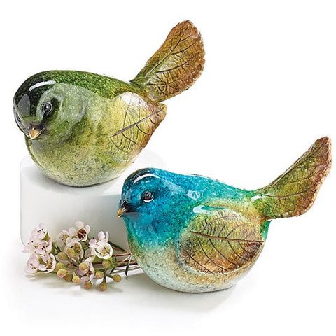 Picture of Speckled Bird Figurines with Watercolor Look