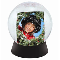 Sphere Photo Snow Globes with Black Base - 6 Pack