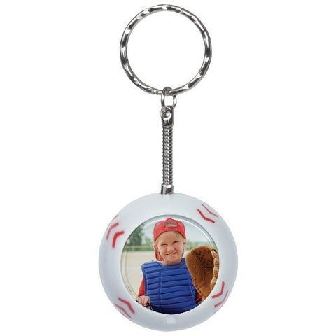 Picture of Baseball Photo Snap-in Keychains - 6 Pack