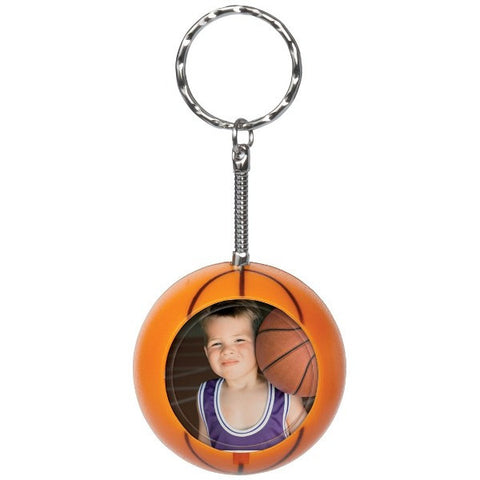 Picture of Basketball Photo Snap-in Keychains - 6 Pack