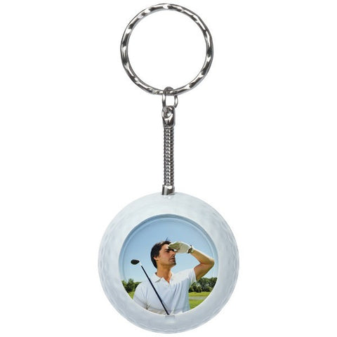 Picture of Golf Photo Snap-in Keychains - 6 Pack