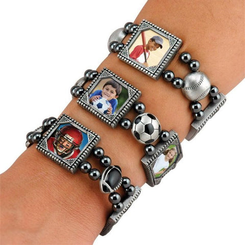 Picture of Sports Photo Charm Bracelets