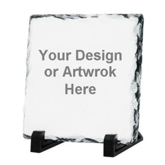 Square Stone Photo Slates with Your Own Design