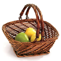 Square Willow Small Basket