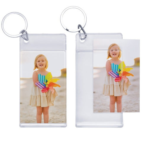 Picture of Standard Slip-in Photo Keychains - 6 Pack