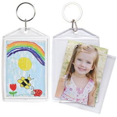 Standard Snap-in Photo Keychains - 6 Pack