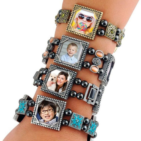 Picture of Stones Photo Charm Bracelets