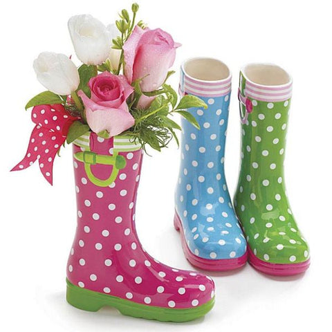 Picture of Summer Brights Ceramic Rain Boot Set