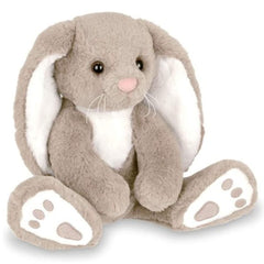 Taupe and White Plush Bunny Rabbit Boomer