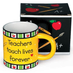 Teachers Touch Lives Stoneware Mugs - 4 Pack