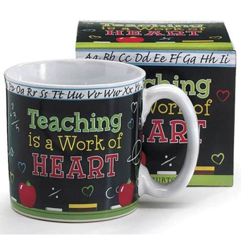 Picture of Teaching/Heart 13 oz. Ceramic Mugs - 6 Pack