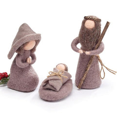 Three Piece Felt Nativity Set