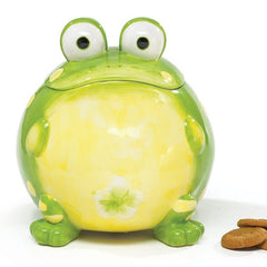 Toby the Toad Frog Cookie Jar