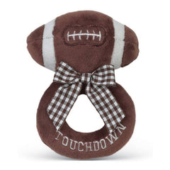 Touchdown Plush Football Ring Rattles - 6 Pack