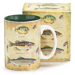 Trio of Fish 16 oz. Ceramic Mugs - 6 Pack