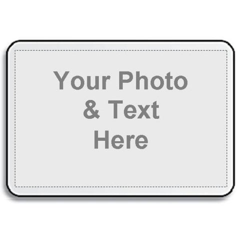 Picture of White Fabric Placemat with Your Photo Picture