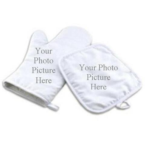 Picture of Oven Mitt and Hot Pad Set with Photo Picture