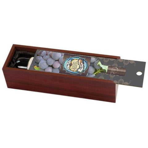 Picture of Rosewood Wine Box with Customized Picture Lid