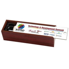 Rosewood Wine Box with Your Own Lid Design