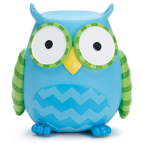 Picture of WHO'S CUTEST BOY Blue Owl Resin Banks - 2 Pack