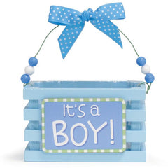 WHO'S CUTEST BOY Blue Wood Crates