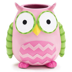 WHO'S CUTEST GIRL Pink Owl Resin Vase/Planter - 3 Pack